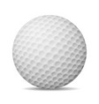 realistic golf ball isolated on white vector image