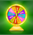 realistic retro gold game wheel vector image vector image