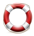 Red life buoy on white background EPS 10 vector image