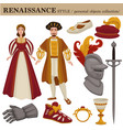 renaissance century european old retro fashion vector image