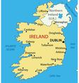 Republic of Ireland - map vector image vector image