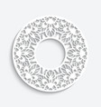 round frame with cutout paper border pattern vector image vector image