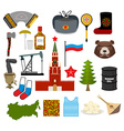 Russia symbol set Russian national character State vector image vector image