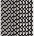 Seamless Black White Round Wavy Line vector image vector image