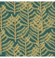 Seamless pattern pine vector image