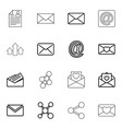 send icons vector image vector image