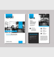 set of blue cover and layout brochure flyer vector image vector image