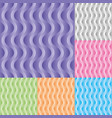 set vertical wavy stream seamless pattern vector image vector image