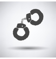 Sex handcuffs with fur icon vector image