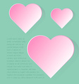 Simply infographic pink heart symbol with long vector image vector image