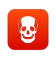 skull icon digital red vector image