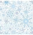 Snowflakes lace seamless patternWinterChristmas vector image vector image