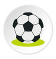 soccer ball icon circle vector image vector image