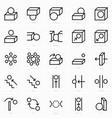 space prepositions icon vector image vector image