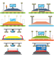 Sport stadium and stage set vector image
