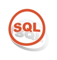SQL sign sticker orange vector image vector image