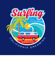 Surfing California dreams vector image vector image