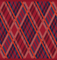 tartan seamless rhombus texture red and blue vector image vector image