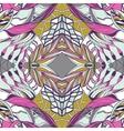 Traditional ornamental paisley bandanna Pink vector image vector image
