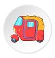 Tuk tuk taxi icon cartoon style vector image vector image