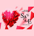 valentines day sale background with polygonal vector image vector image
