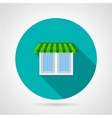 Window with canopy flat icon vector image vector image