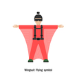 Wing suit Flying vector image vector image