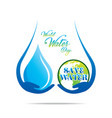 world water day poster concept vector image