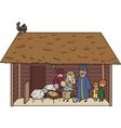 Christmas crib vector image