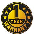 One year warranty vector image