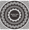 Set of lace frames vector image