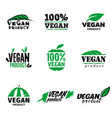 100 vegan product logo vector image vector image