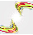 Abstract background with bent lines vector image vector image