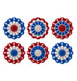 american bunting decoration vector image vector image