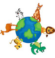 Animals around the world vector image