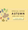 autumn sale promotion advertising banner template vector image