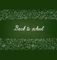 back to school chalkboard wallpaper education vector image