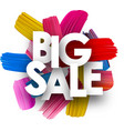 big sale poster with brush strokes vector image vector image