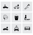 black car wash icons set vector image vector image