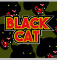 black cat pattern vector image vector image