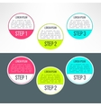 business process steps circles infographics vector image vector image