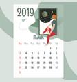 calendar 2019 march calendarcalendar vector image vector image