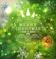 Christmas festive background with Christmas tree vector image vector image