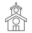 church building symbol vector image vector image