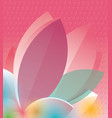 colorful flower and blots vector image