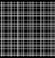 cross line seamless pattern white grid lines vector image