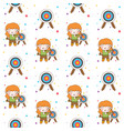 cute archer girl with blonde hair seamless vector image vector image