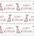 cute cartoon happy birthday party hat and creative vector image vector image