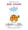 delicate customizable baby shower card template vector image vector image