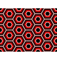 Design seamless colorful hexagon geometric pattern vector image